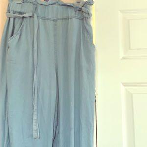Medium blue thread & supply pants
